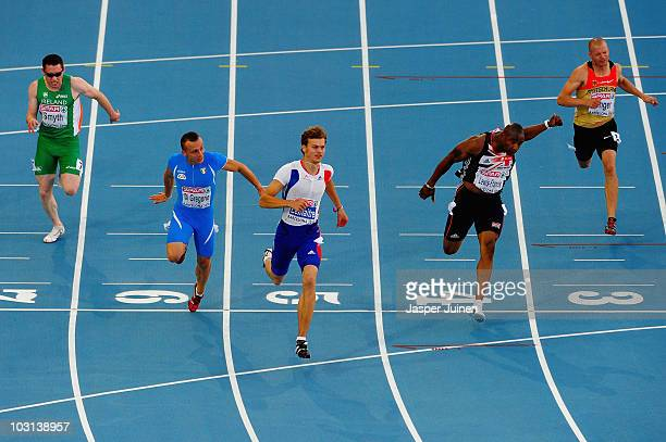 Jason Smyth of Ireland Emanuele Di Gregorio of Italy Christophe Lemaitre of France Mark LewisFrancis of Great Britain and Tobias Unger of Germany...