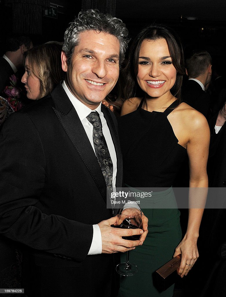 Jason Solomons (L) and Samantha Barks attend an after party following the London Critics Circle Film Awards at Quince Restaurant, The May Fair Hotel on January 20, 2013 in London, England.