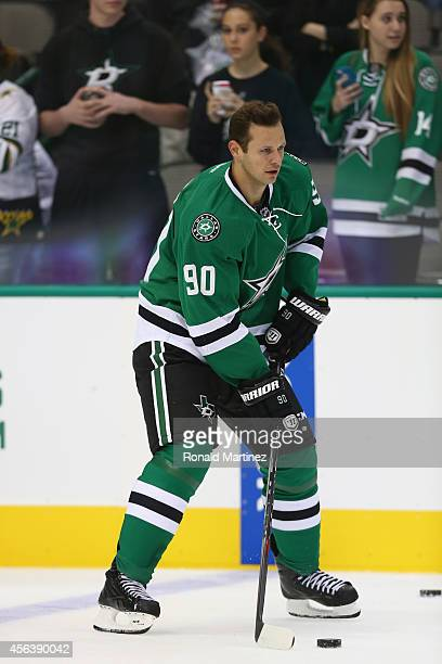 Jason Spezza of the Dallas Stars during a preseason game at American Airlines Center on September 29 2014 in Dallas Texas