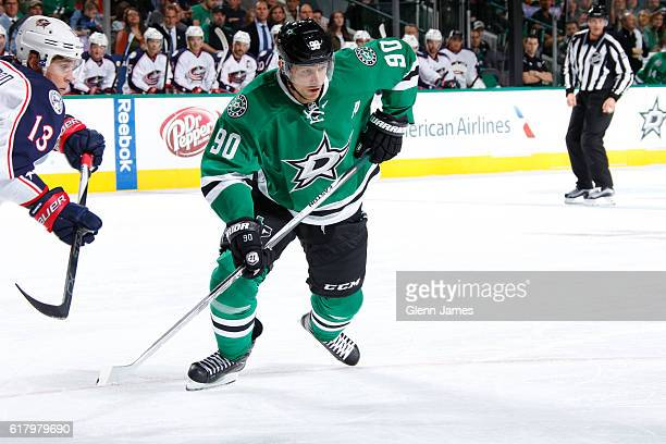 Jason Spezza of the Dallas Stars skates against the Columbus Blue Jackets at the American Airlines Center on October 22 2016 in Dallas Texas