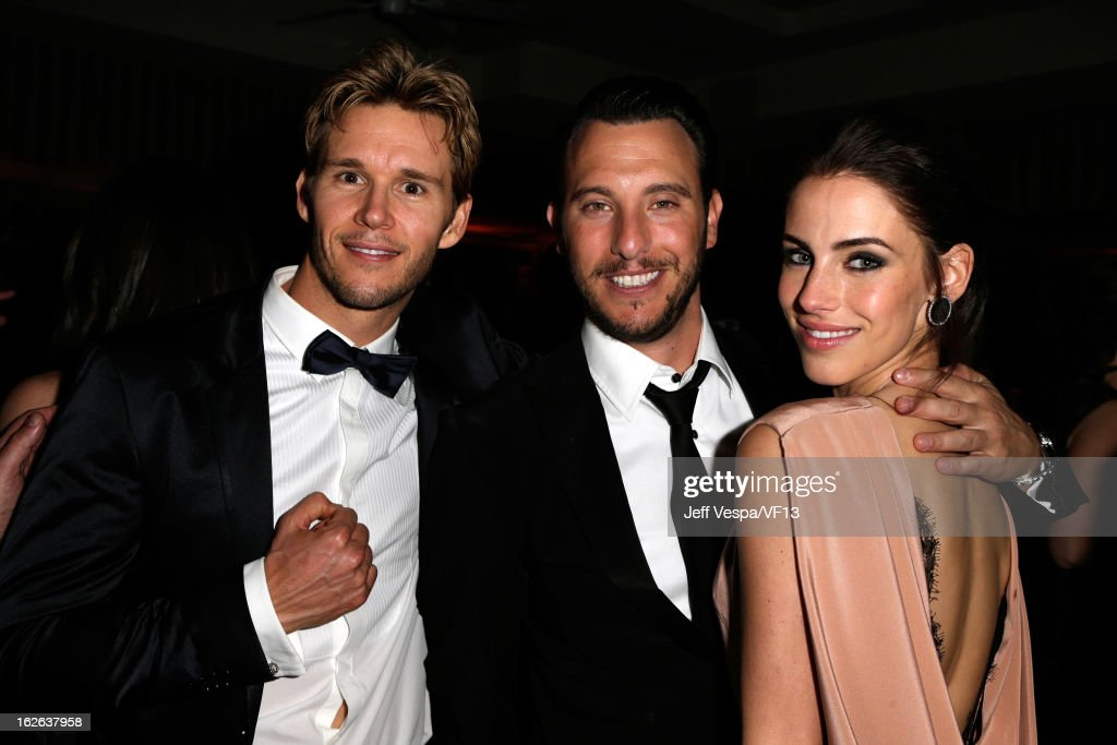 Jason Stackhouse, Jessica Loundes and guest attends the 2013 Vanity Fair Oscar Party hosted by Graydon Carter at Sunset Tower on February 24, 2013 in West Hollywood, California.