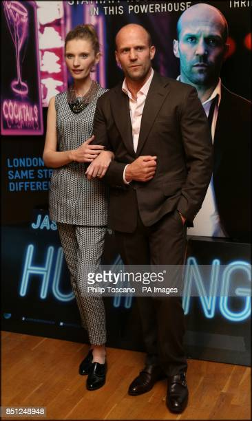 Jason Statham and Agata Buzek arrive for the UK film premiere of Hummingbird at the Odeon Leicester Square central London