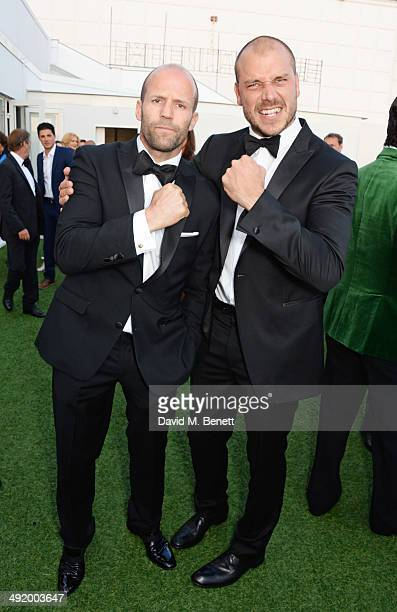 Jason Statham and director Patrick Hughes attend 'The Expendables 3' private dinner and party at Gotha Night Club at Palm Beach on May 18 2014 in...