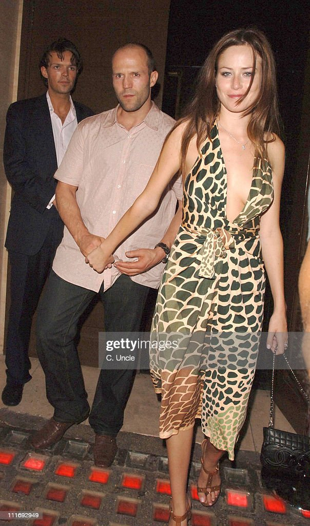 Jason Statham and guest during Celebrity Sightings at the Cuckoo Club - July 26, 2006 in London, Great Britain.