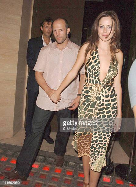 Jason Statham and guest during Celebrity Sightings at the Cuckoo Club July 26 2006 in London Great Britain
