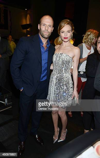 Jason Statham and Kate Bosworth attend the 'Homefront' premiere at Planet Hollywood Resort Casino on November 20 2013 in Las Vegas Nevada