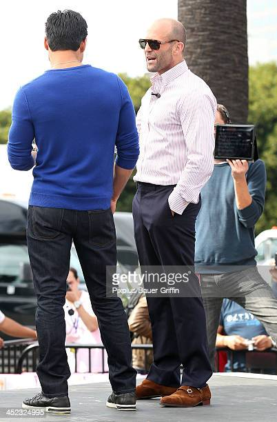 Jason Statham and Mario Lopez are seen on November 21 2013 in Los Angeles California