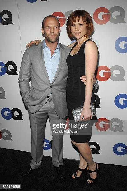 Jason Statham and Natalya Rudakova attend GQ 2008 'Men Of The Year' Party at Chateau Marmont Hotel on November 18 2008 in Los Angeles CA