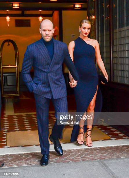 Jason Statham and Rosie HuntingtonWhiteley are seen on April 8 2017 in New York City
