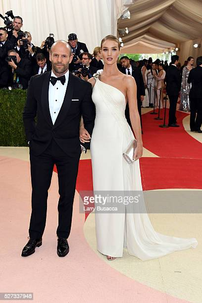 Jason Statham and Rosie HuntingtonWhiteley attend the 'Manus x Machina Fashion In An Age Of Technology' Costume Institute Gala at Metropolitan Museum...