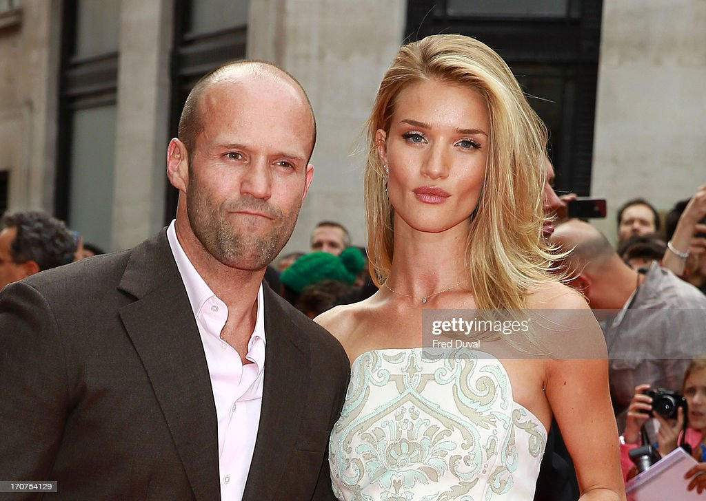 Jason Statham and Rosie Huntington-Whiteley attend the UK Premiere of 'Hummingbird' at Odeon West End on June 17, 2013 in London, England.