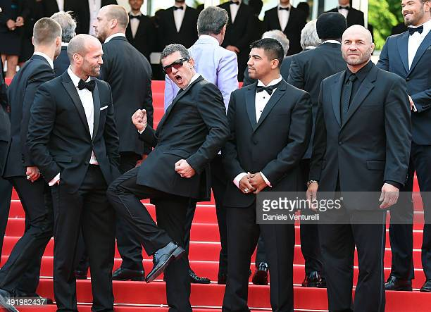 Jason Statham Antonio Banderas Victor Ortiz and Randy Couture attend 'Expendables 3' Premiere at the 67th Annual Cannes Film Festival on May 18 2014...