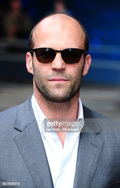 Jason Statham arrives at the premiere of his new film Safe at the Imax cinema in London