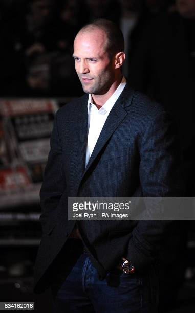 Jason Statham arrives for the World Premiere of The Bank Job at the Odeon West End in Leicester Square central London