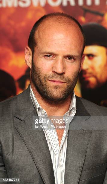 Jason Statham at a photocall for new film The Expendables 2 at SimpsonsintheStrand in central London