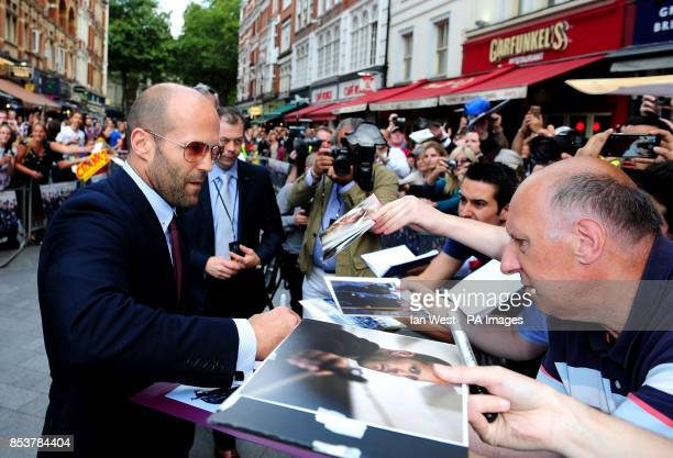 Jason Statham attending the premiere of new film the Expendables III at the Odeon Cinema in London