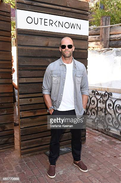 Jason Statham attends Kelly Slater John Moore and Friends Celebrate the Launch of Outerknown at Private Residence on August 29 2015 in Malibu...