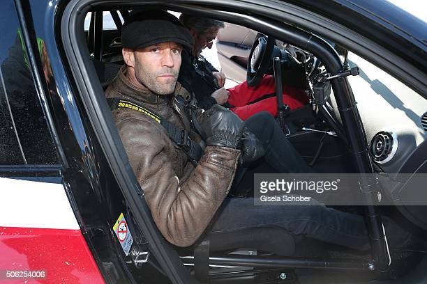 Jason Statham attends the Audi driving experience during the Audi Hahnenkamm race weekend on January 22 2016 in Kitzbuehel Austria