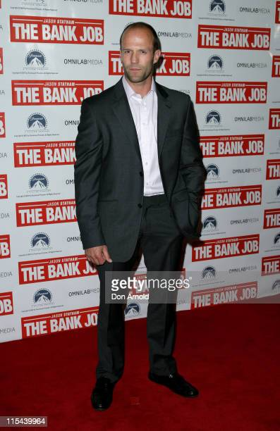 Jason Statham attends the Australian Premiere of 'The Bank Job' at the Bondi Junction Greater Union Cinemas on July 9 2008 in Sydney Australia