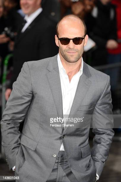 Jason Statham attends the European premiere of 'Safe' at BFI IMAX on April 30 2012 in London England