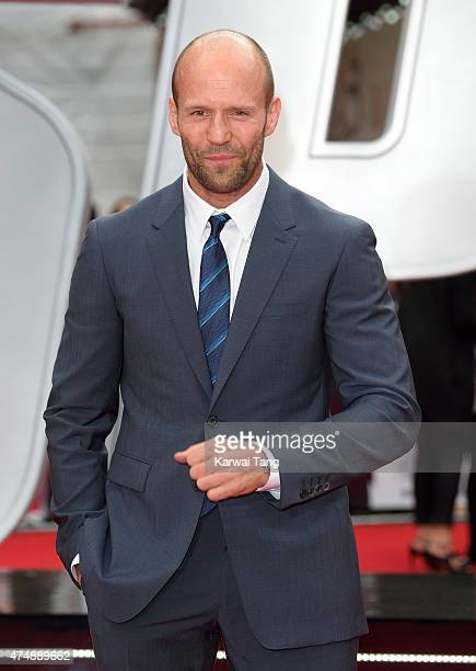 Jason Statham attends the UK Premiere of 'Spy' at Odeon Leicester Square on May 27 2015 in London England