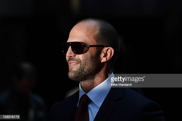 Jason Statham attends the UK premiere of The Expendables at Odeon Leicester Square on August 9 2010 in London England