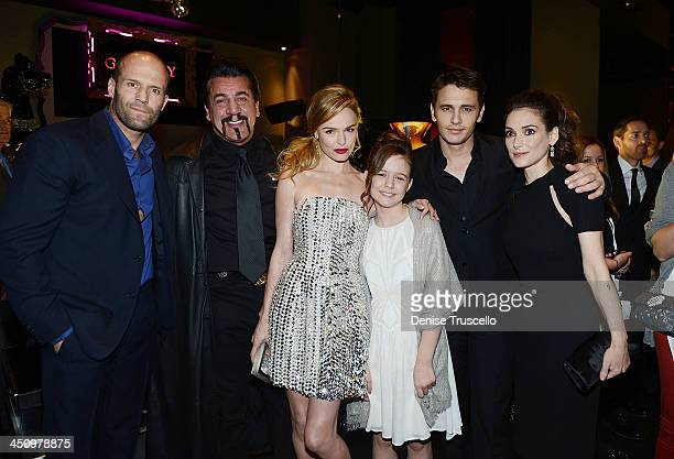 Jason Statham Chuck Zito Kate Bosworth Izabela Vidovic James Franco and Winona Ryder attend the 'Homefront' premiere at Planet Hollywood Resort...