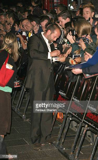 Jason Statham during 'Revolver' London Premiere Arrivals at Odeon Leicester Square in London Great Britain