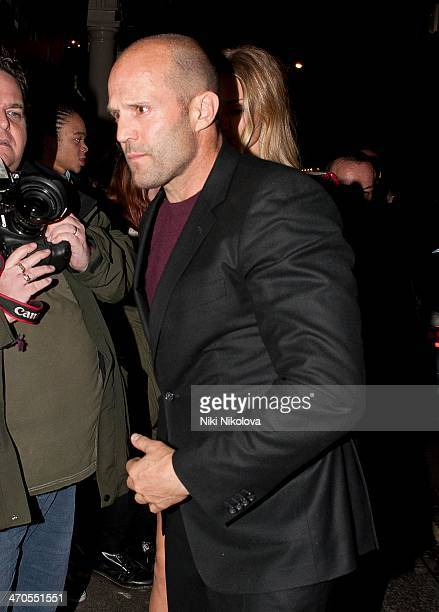 Jason Statham is seen arriving at the Sony party held at the Arts Club Mayfair on February 19 2014 in London England