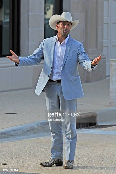 Jason Statham is sighted on the set of 'Parker' on September 19 2011 in Miami Florida