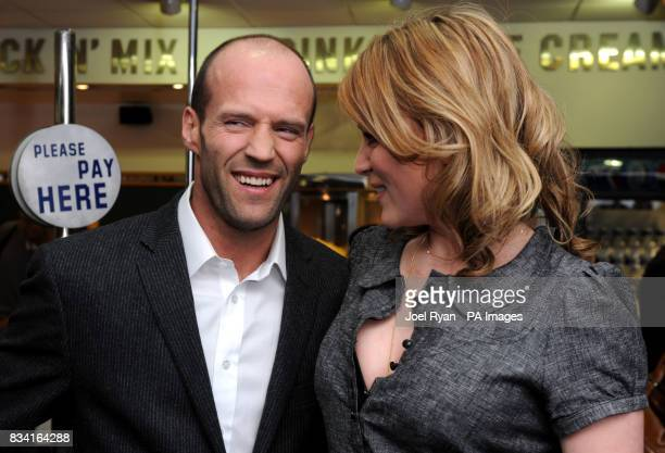 Jason Statham Keeley Hawes arrive for the World Premiere of The Bank Job at the Odeon West End in Leicester Square central London