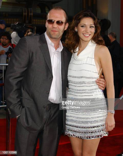 Jason Statham Kelly Brook during World Premiere of 'The Italian Job' Red Carpet at Grauman's Chinese Theatre in Hollywood California United States