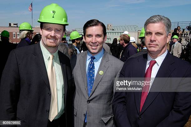 Jason Stewart Gifford Miller and Ed Wallace attend Groundbreaking Ceremony for New Park on the High Line at High Line Rail Viaduct on April 10 2006...