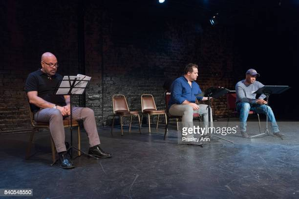 Jason Stewart Peter Story and Larry Bates attend More Than A Hashtag at The Matrix Theatre on August 28 2017 in Los Angeles California