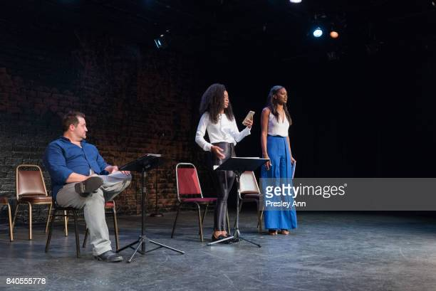 Jason Stewart Peter Story Danielle Mone Truitt and Stacy Ike attend More Than A Hashtag at The Matrix Theatre on August 28 2017 in Los Angeles...