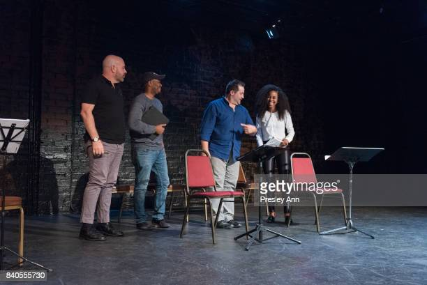 Jason Stewart Peter Story Larry Bates and Danielle Mone Truitt attend More Than A Hashtag at The Matrix Theatre on August 28 2017 in Los Angeles...