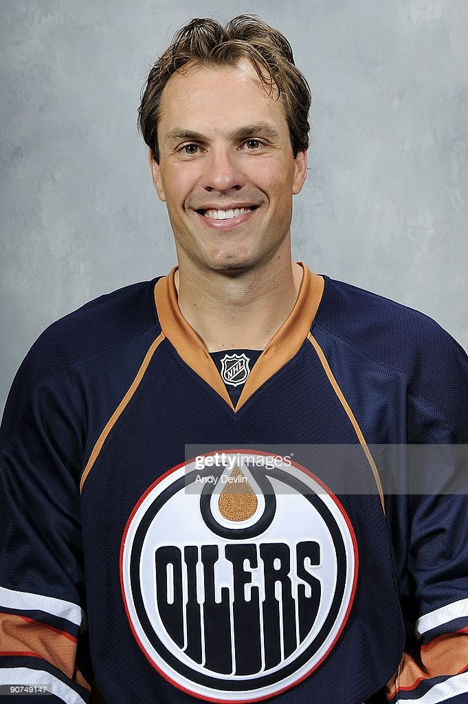 Jason Strudwick of the Edmonton Oilers poses for his official headshot for the 2009-2010 NHL season.