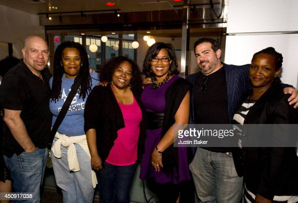 Jason Stuart Pat Branch Kimberly Browning Darrien Gipson Josh Bachove and Effie Brown attend the SAGWGA Party during the 2014 Los Angeles Film...