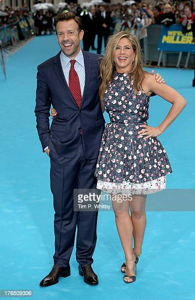 Jason Sudeikis and Jennifer Aniston attend the European premiere of 'We're The Millers' at Odeon West End on August 14 2013 in London England