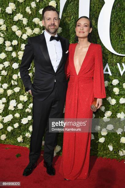 Jason Sudeikis and Olivia Wilde attend the 2017 Tony Awards at Radio City Music Hall on June 11 2017 in New York City