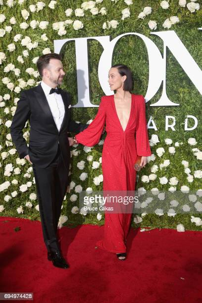 Jason Sudeikis and Olivia Wilde attend the 71st Annual Tony Awards at Radio City Music Hall on June 11 2017 in New York City