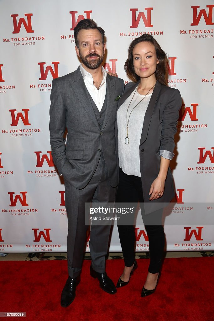 Jason Sudeikis and Olivia Wilde attend the Ms. Foundation Women Of Vision Gala 2014 at Cipriani 42nd Street on May 1, 2014 in New York City.