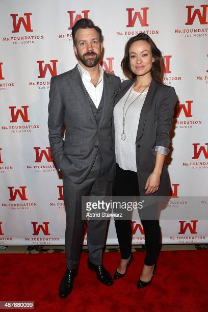 Jason Sudeikis and Olivia Wilde attend the Ms Foundation Women Of Vision Gala 2014 at Cipriani 42nd Street on May 1 2014 in New York City
