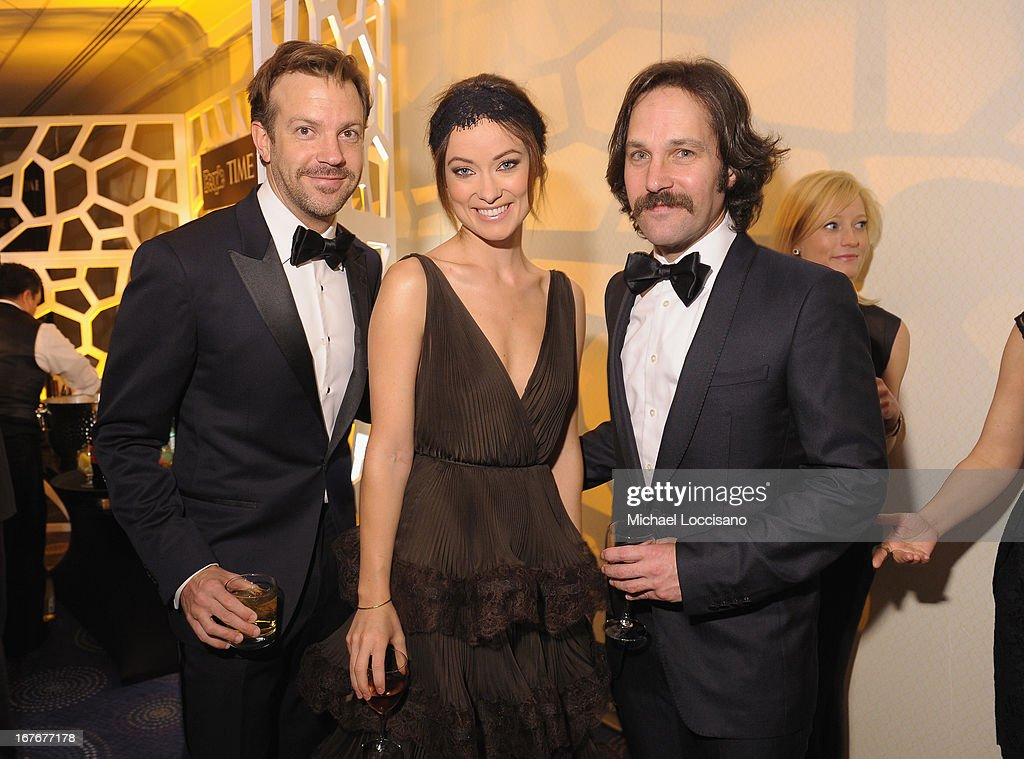 <a gi-track='captionPersonalityLinkClicked' href=/galleries/search?phrase=Jason+Sudeikis&family=editorial&specificpeople=4232997 ng-click='$event.stopPropagation()'>Jason Sudeikis</a>, <a gi-track='captionPersonalityLinkClicked' href=/galleries/search?phrase=Olivia+Wilde&family=editorial&specificpeople=235399 ng-click='$event.stopPropagation()'>Olivia Wilde</a> and <a gi-track='captionPersonalityLinkClicked' href=/galleries/search?phrase=Paul+Rudd&family=editorial&specificpeople=209014 ng-click='$event.stopPropagation()'>Paul Rudd</a> attend the TIME/CNN/PEOPLE/FORTUNE Pre-Dinner Cocktail Reception at Washington Hilton on April 27, 2013 in Washington, DC.