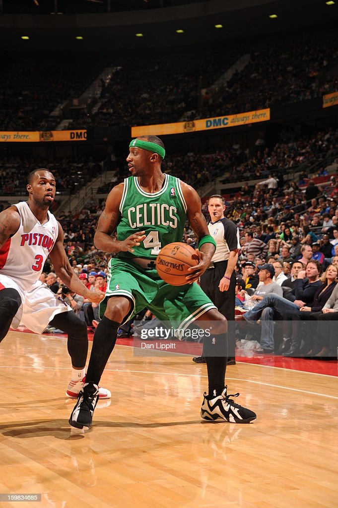 <a gi-track='captionPersonalityLinkClicked' href=/galleries/search?phrase=Jason+Terry&family=editorial&specificpeople=201734 ng-click='$event.stopPropagation()'>Jason Terry</a> #4 of the Boston Celtics protects the ball against <a gi-track='captionPersonalityLinkClicked' href=/galleries/search?phrase=Rodney+Stuckey&family=editorial&specificpeople=4375687 ng-click='$event.stopPropagation()'>Rodney Stuckey</a> #3 of the Detroit Pistons on January 20, 2013 at The Palace of Auburn Hills in Auburn Hills, Michigan.