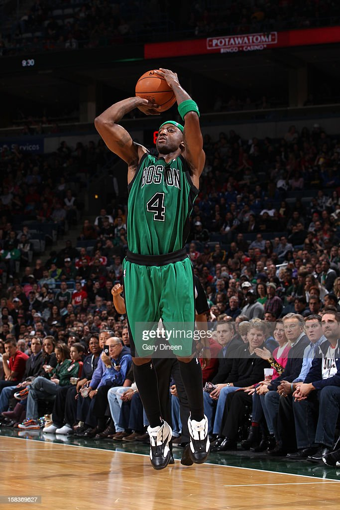 Jason Terry #4 of the Boston Celtics shoots against the Milwaukee Bucks on December 1, 2012 at the BMO Harris Bradley Center in Milwaukee, Wisconsin.
