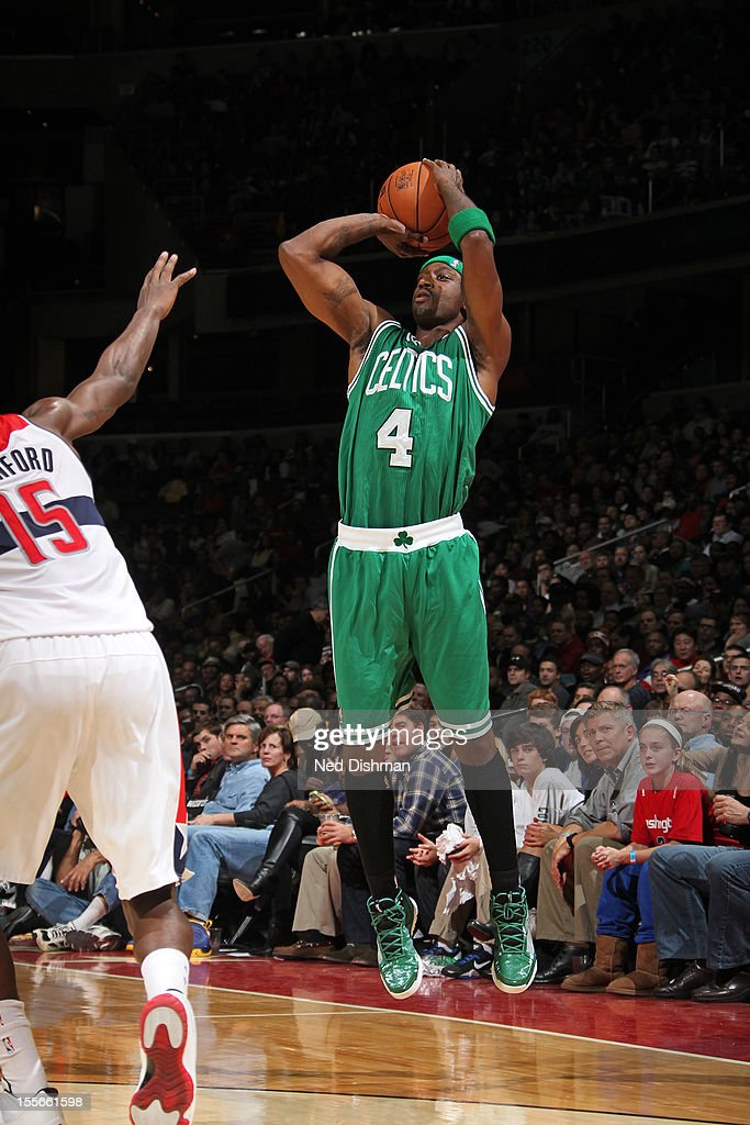 <a gi-track='captionPersonalityLinkClicked' href=/galleries/search?phrase=Jason+Terry&family=editorial&specificpeople=201734 ng-click='$event.stopPropagation()'>Jason Terry</a> #4 of the Boston Celtics shoots against the Washington Wizards at the Verizon Center on November 3, 2012 in Washington, DC.