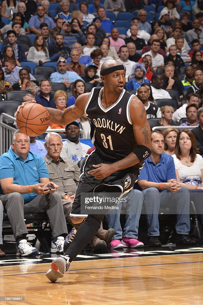 <a gi-track='captionPersonalityLinkClicked' href=/galleries/search?phrase=Jason+Terry&family=editorial&specificpeople=201734 ng-click='$event.stopPropagation()'>Jason Terry</a> #31 of the Brooklyn Nets drives against the Orlando Magic on November 3, 2013 at Amway Center in Orlando, Florida.