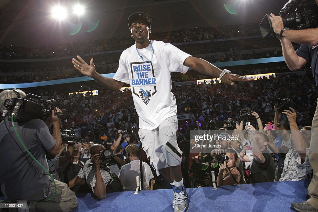 <a gi-track='captionPersonalityLinkClicked' href=/galleries/search?phrase=Jason+Terry&family=editorial&specificpeople=201734 ng-click='$event.stopPropagation()'>Jason Terry</a> of the Dallas Mavericks climbs the stairs of the stage as he is introduced to the crowd during the Mavericks NBA Champion Victory Parade on June 16, 2011 at the American Airlines Center in Dallas, Texas.