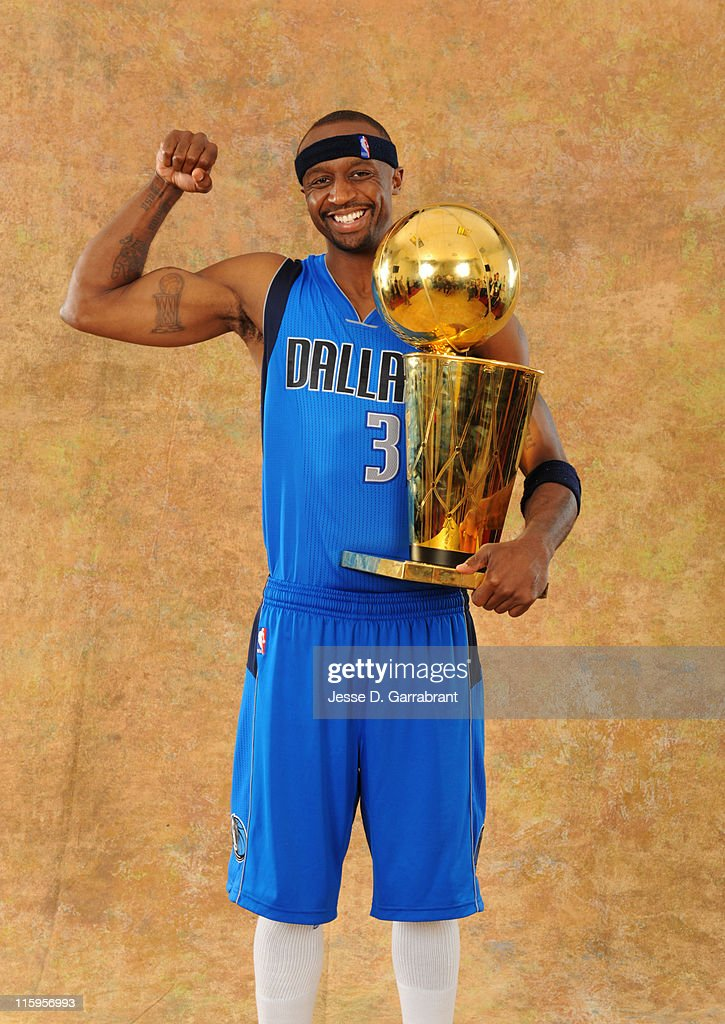 Jason Terry #31 of the Dallas Mavericks poses for a portrait after defeating the Miami Heat during Game Six of the 2011 NBA Finals on June 12, 2011 at the American Airlines Arena in Miami, Florida.